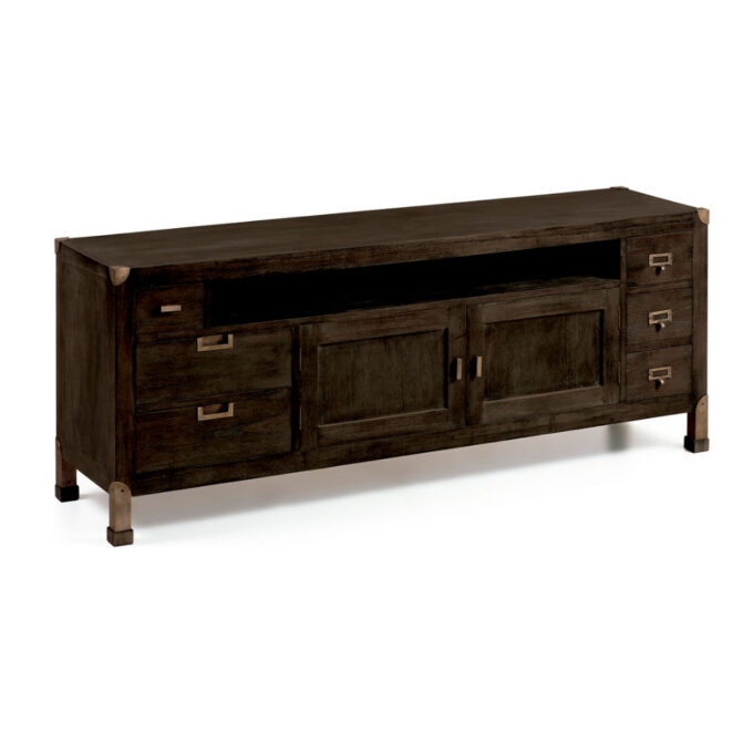 Mueble TV industrial madera 160x40x60cm